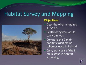 Hab Mapping lecture Objectives slide